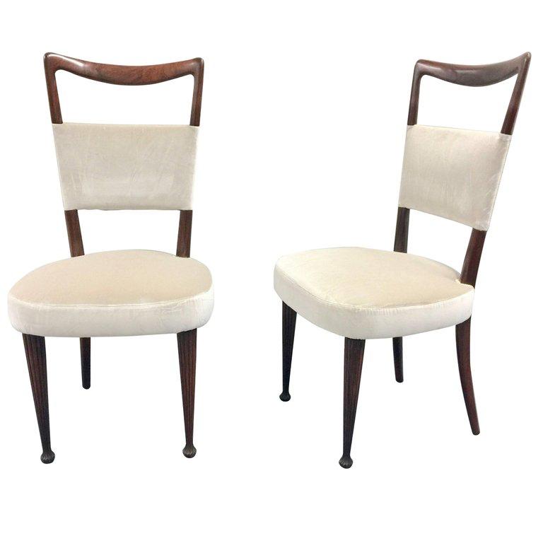 Four Osvaldo Borsani Dining Chairs 1950s