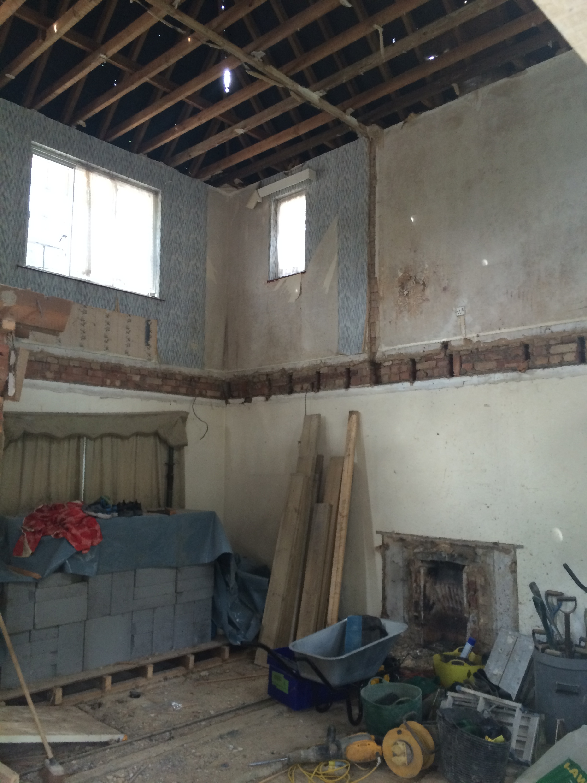 during renovation both the floors and ceilings were removed