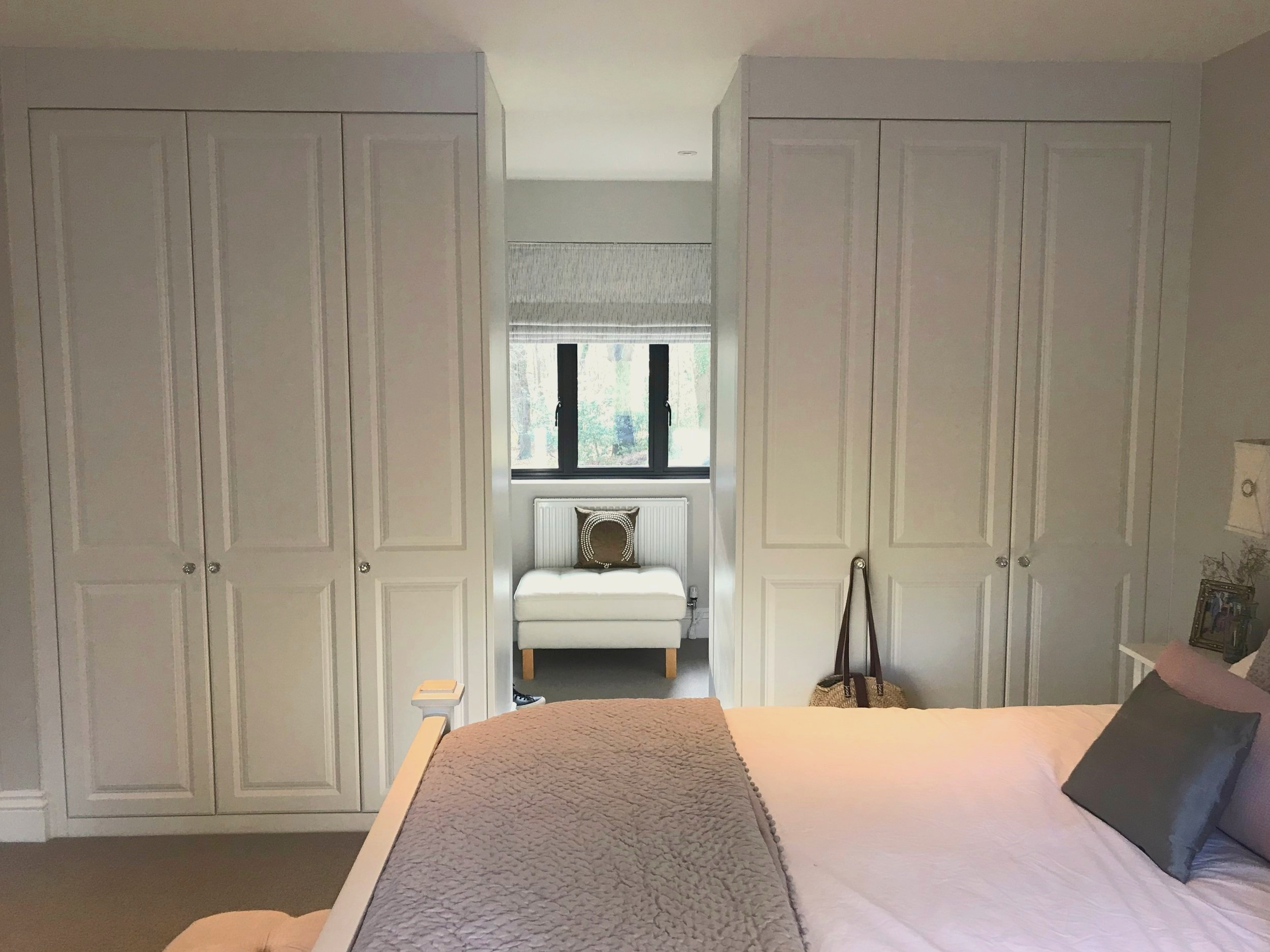 working with a sharps professional created bespoke wardrobes for an awkward space