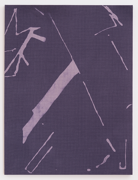 Cheryl Donegan, Untitled Resist (faded navy and pink) 2014