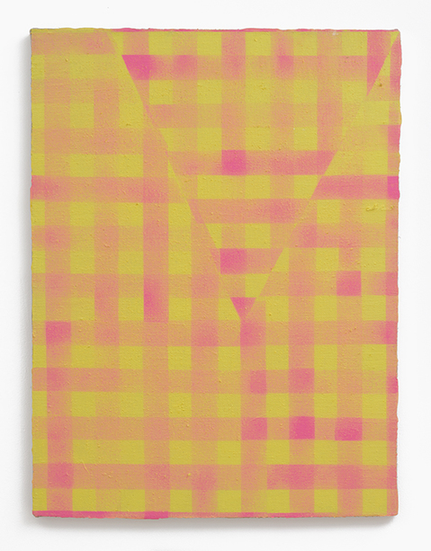 Cheryl Donegan, Untitled (yellow and hot pink) 2013