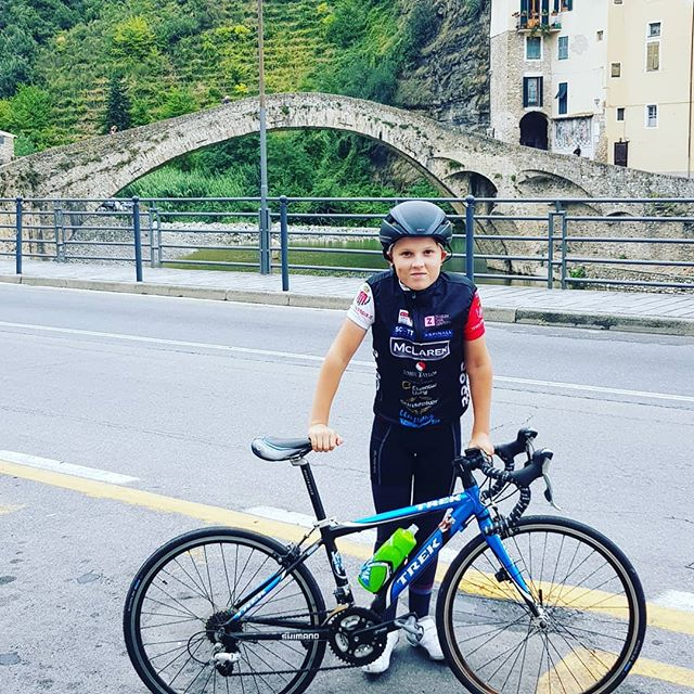 Patrick's 1st run up to Dolceacqua .Well done buddy.Already aiming to be the youngest ever COCC to do St Tropez - Monaco 2019 !!!!