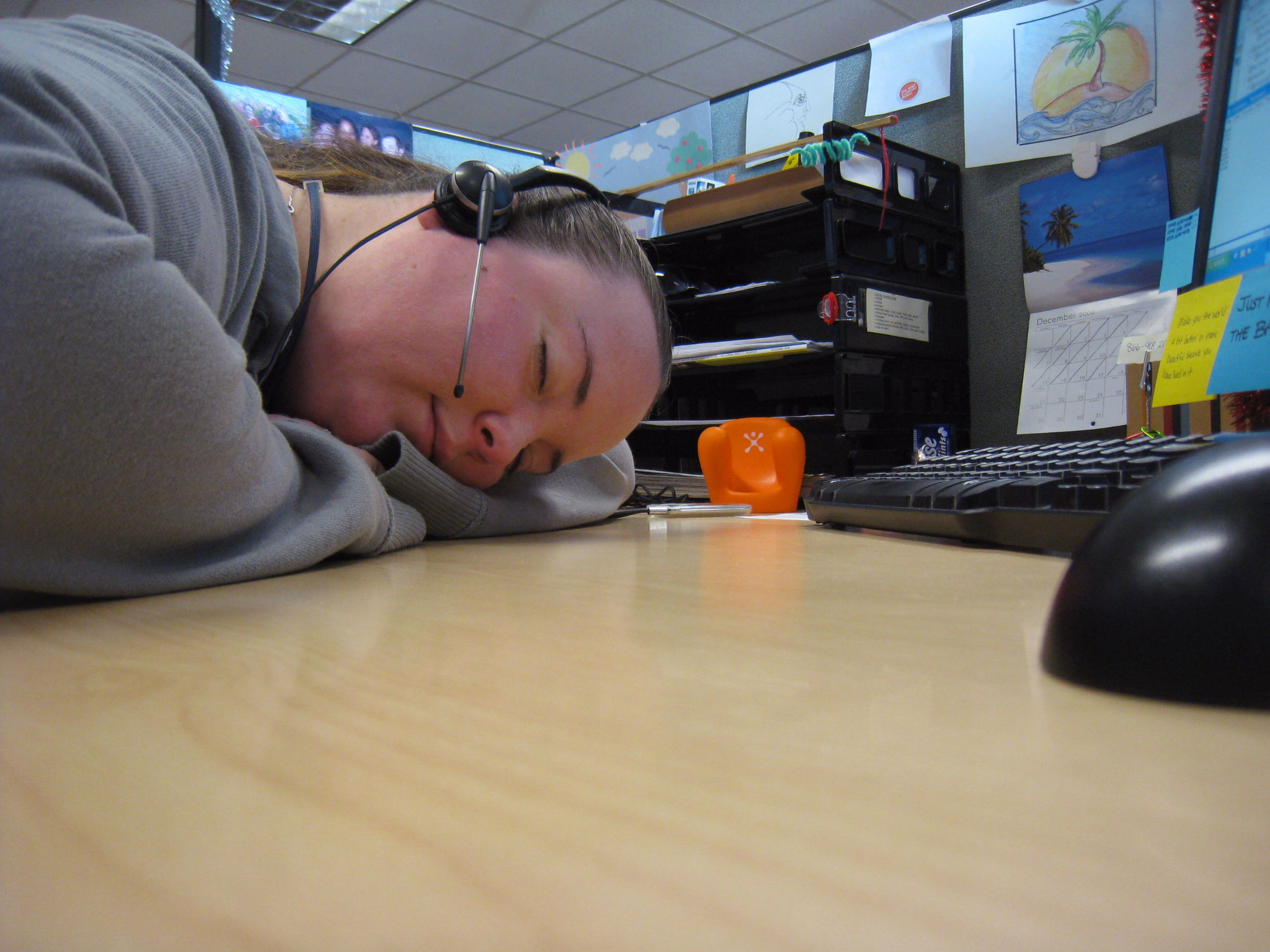 Maybe sleeping on the job is a good idea?