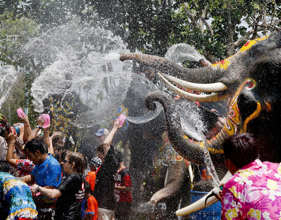 Songkhran Thai New Year Astrological Passage Water Festival