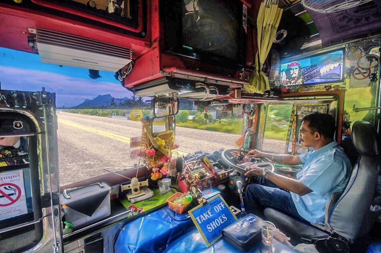 Public bus in Thailand
