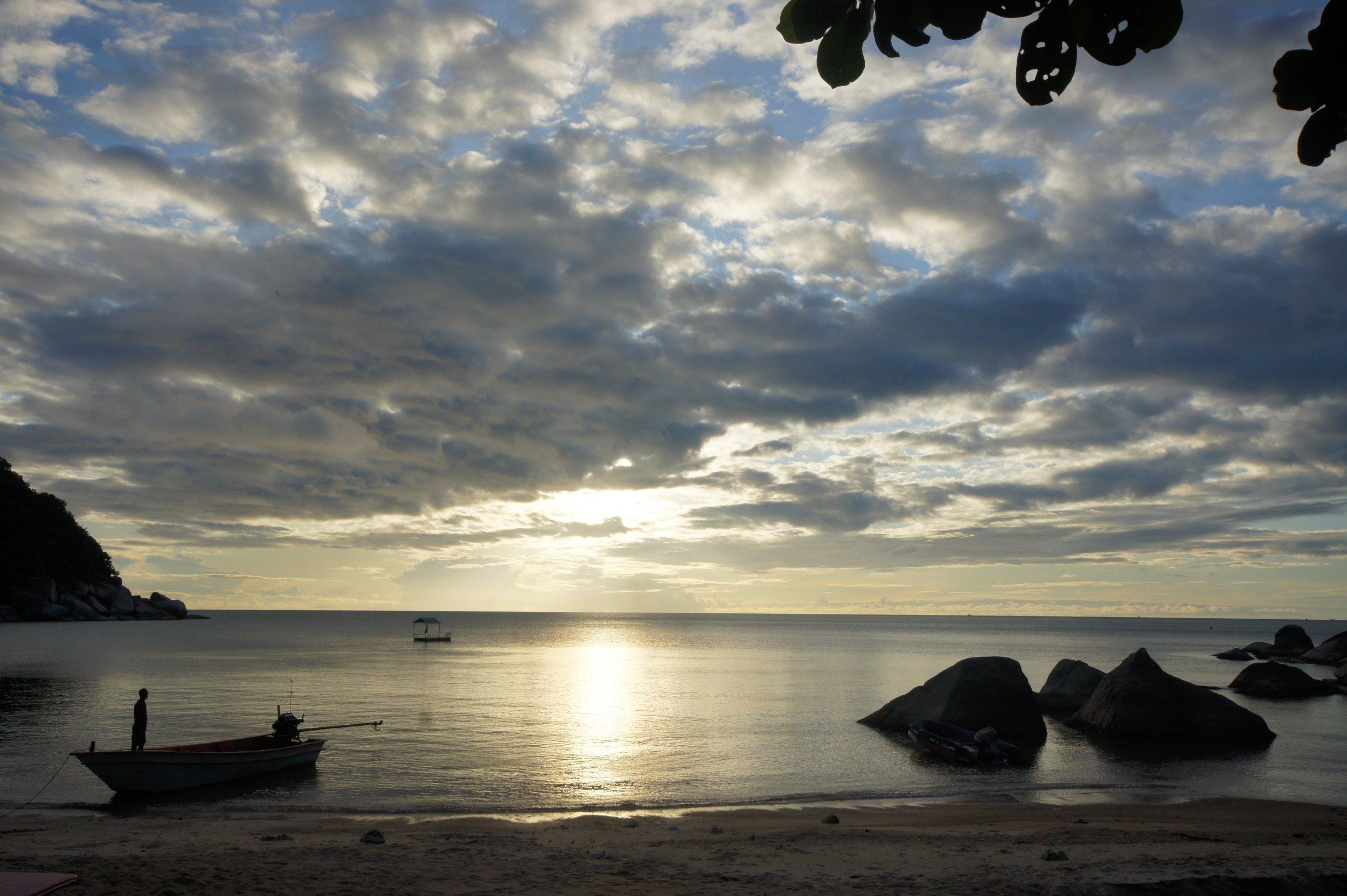 Sunrise on the beach at The Sanctuary Thailand