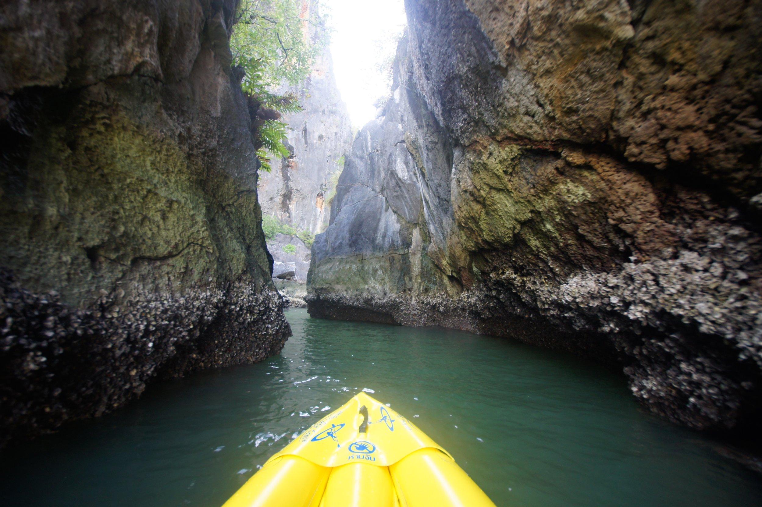 Entering Phang Nga Bay lagoons on John Gray Sea Canoe Tours