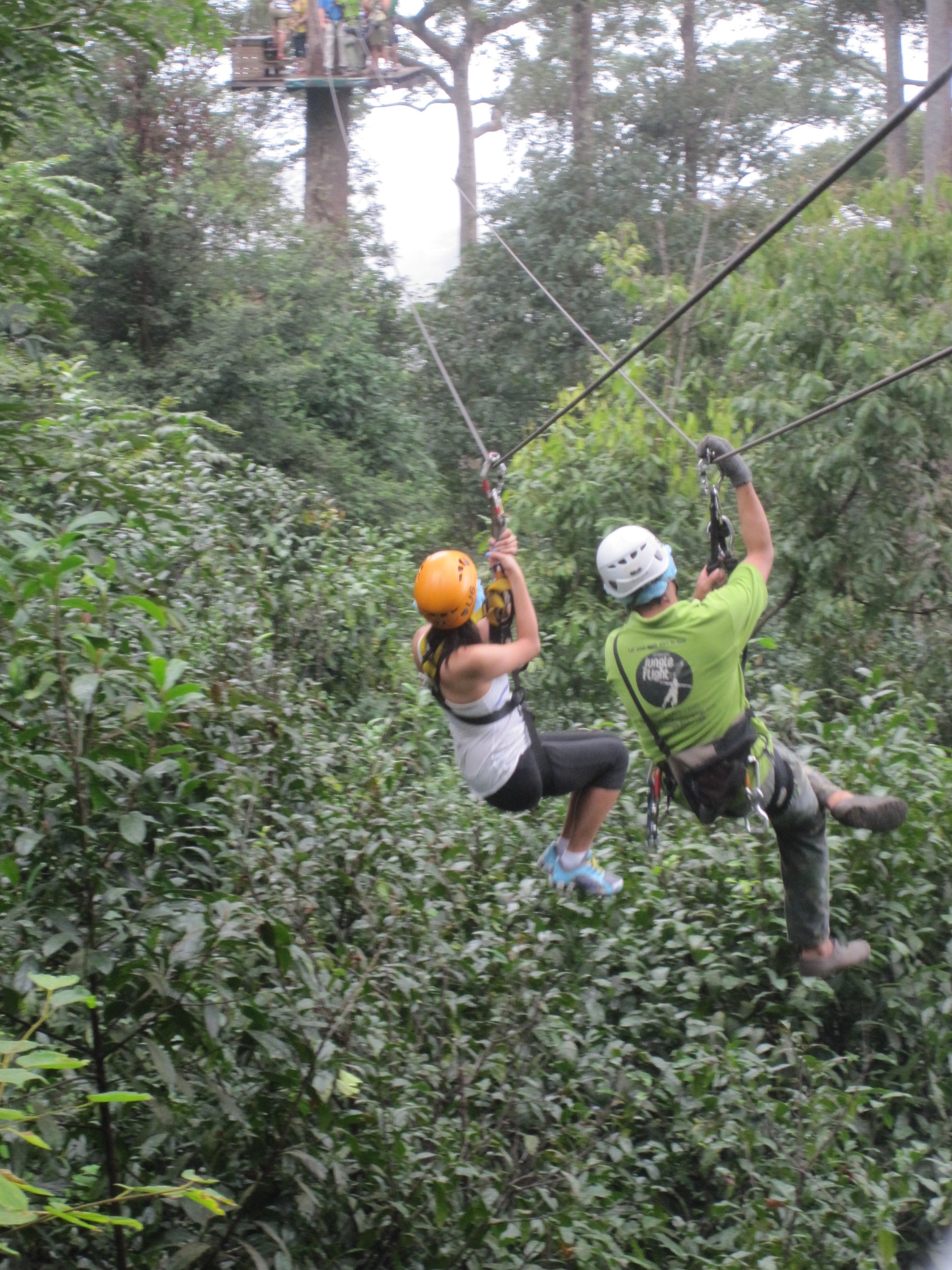 Jungle Flight zip-line in Chiang Mai Thailand great for your remote team retreat