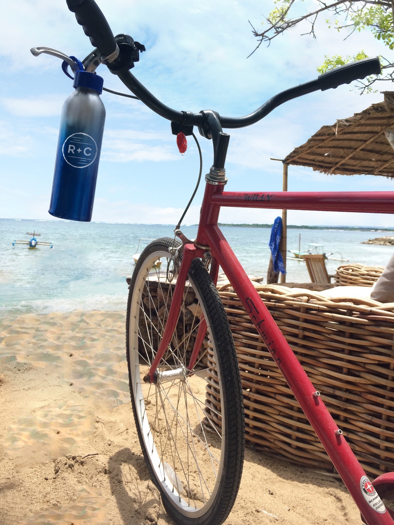 Biking every morning along Sanur Beach was the best way to start the day!