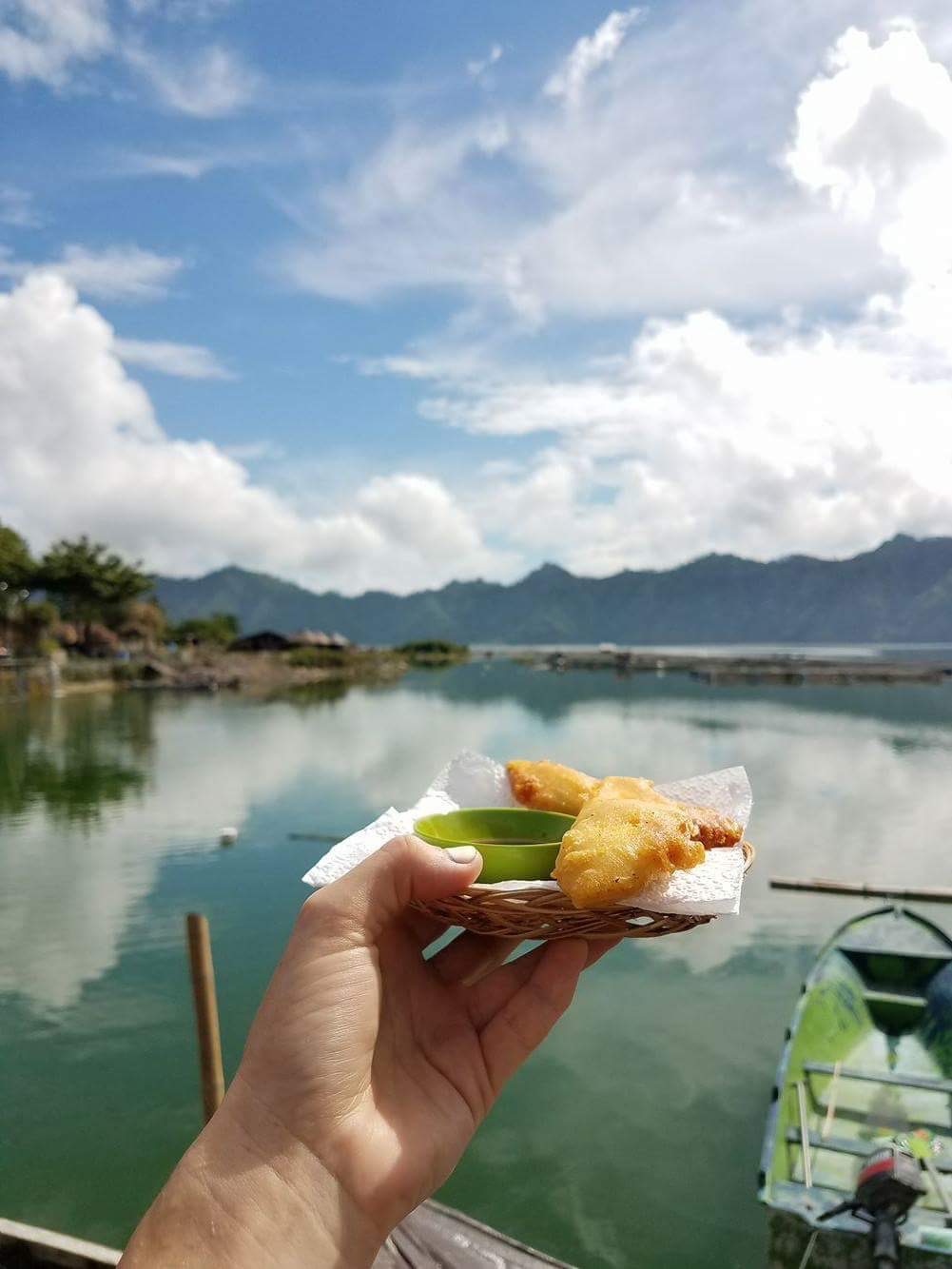 Welcome drink and snack included in our private tour and served at the natural hot springs.