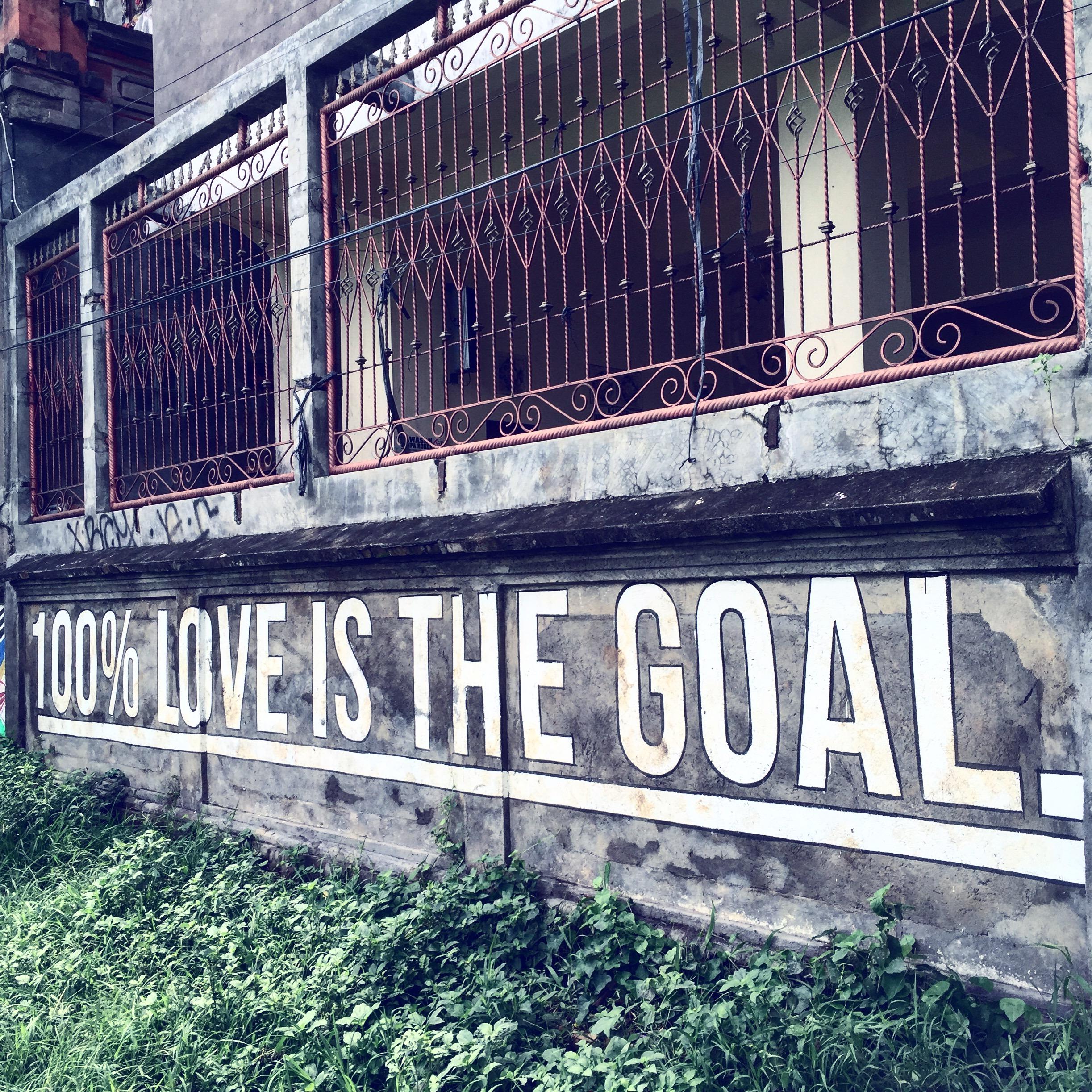 Wall art near the market in Ubud, Bali.