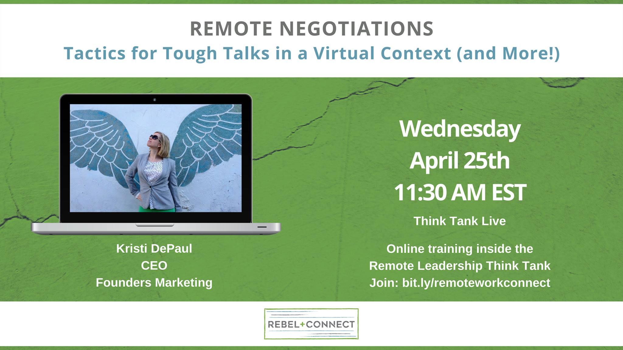 Remote negotiations - Tactics for Tough Talks in a Virtual Context