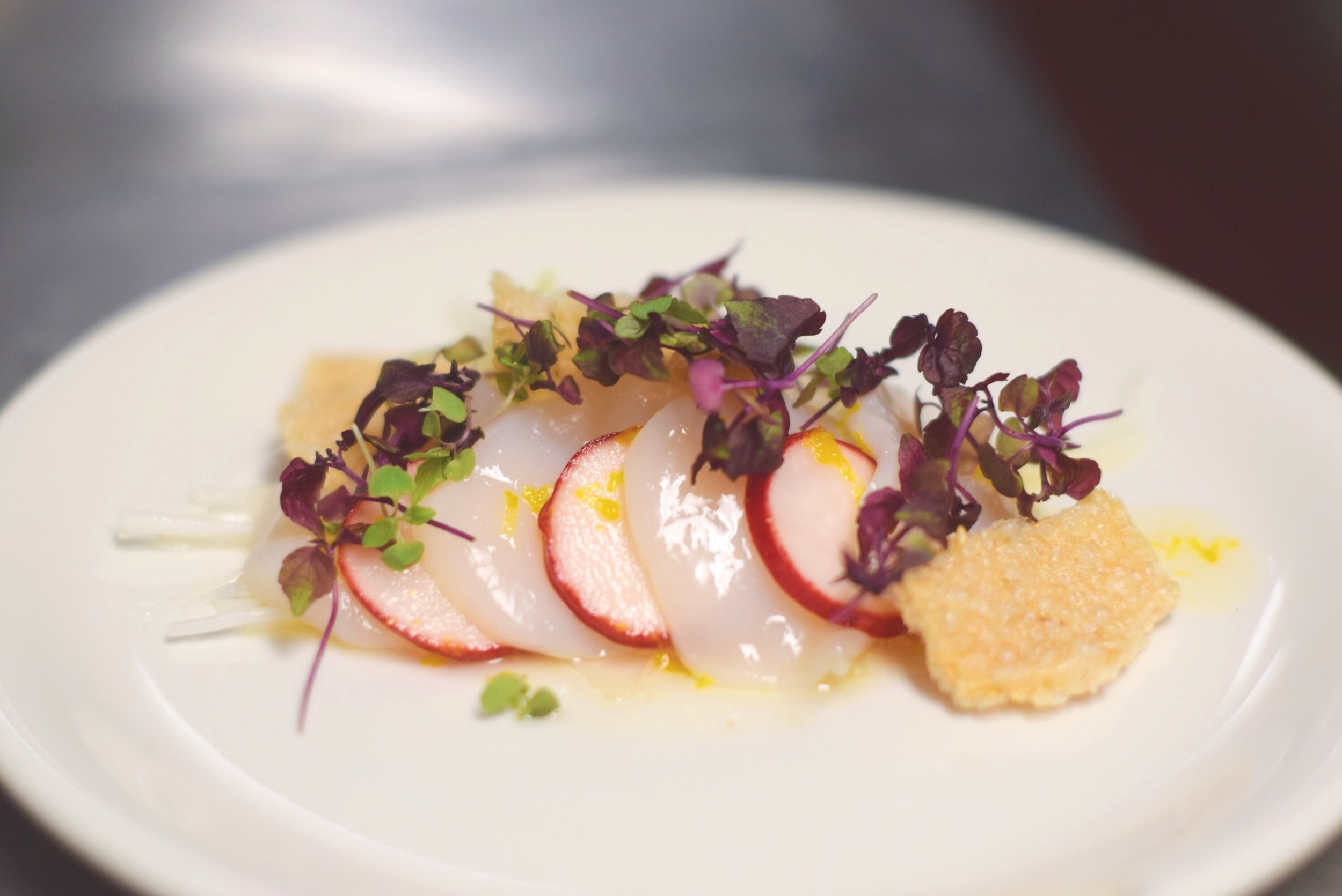 Scallop crudo by Jason Wang (photo by Teresa Fung)
