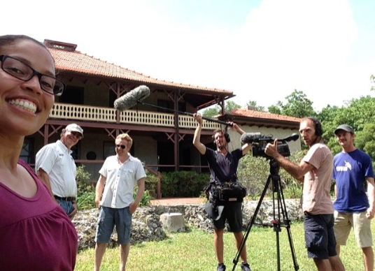 Publicity garnered from previous film.   Behind the scenes on French travel show (Echappes Belles)