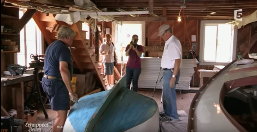 The French travel show Échappées belles featured the boat build and the Barnacle State Park in it's Miami episode.    Click here to watch the segment.