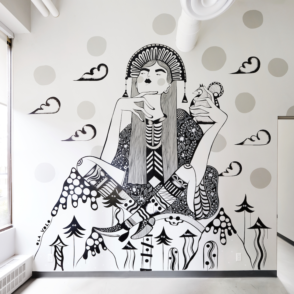 Ola Volo's  mural at  The Profile , photo taken by  Laara Cerman .
