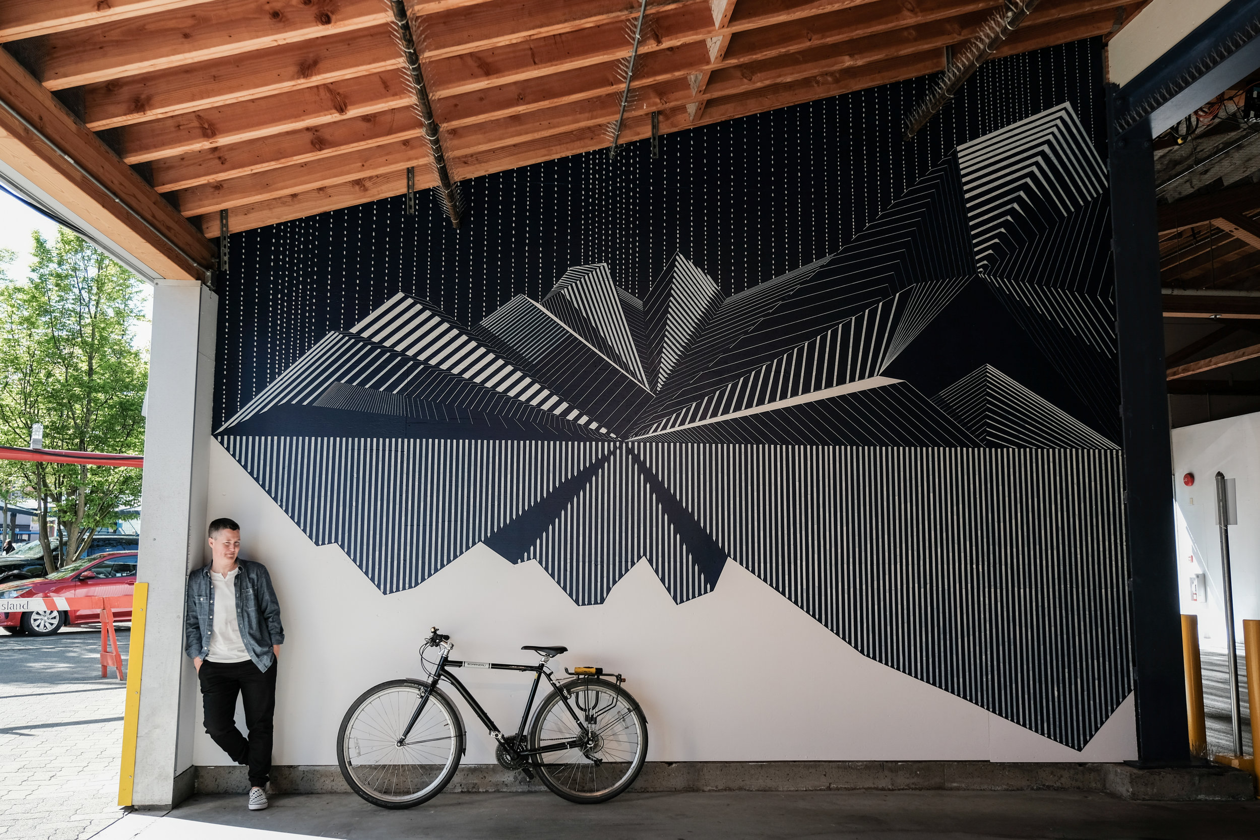Kari and her mural at Granville Island, taken by  Maria Angerilli .