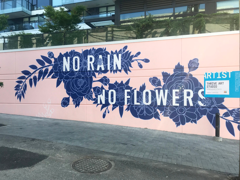 Our members recently finished this gorgeous mural for the  Vancouver Mural Fest ! The mural was designed by THRIVE's very own Tara Lee Bennett and painted by our members.