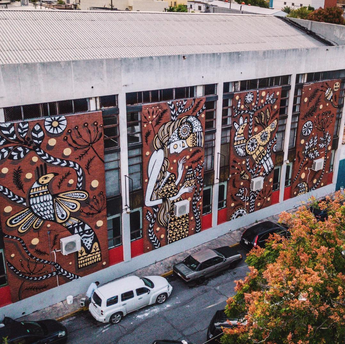 The mural at large.