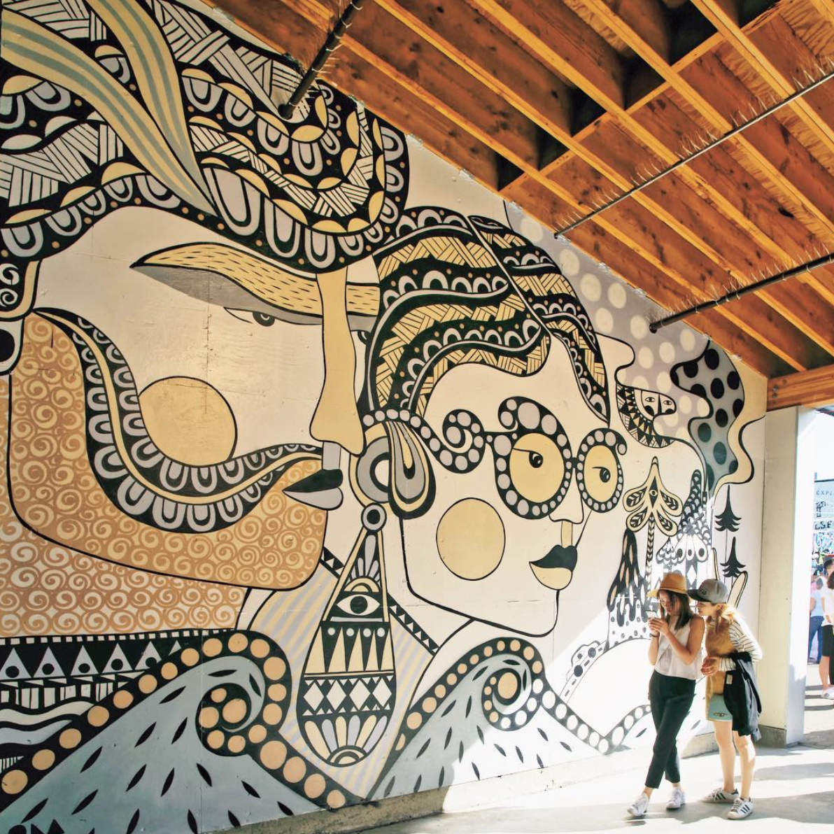 Ola's mural for the Art Smash on Granville Island, Vancouver.