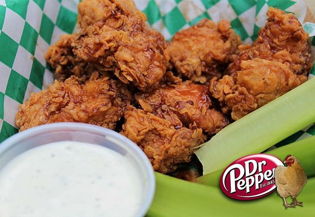 "Did you know?! If you pinch your nose and say ""Wednesday"", it sounds like ""Wingsday""! You're welcome! 👃  Join us at The Shed every ""Wingsday"" for 50¢ Boneless or Classic Shed Wings, and try these deliciously sweet & crispity-crunchity Dr. Pepper Wings!  Only at The Shed! (If you pinched your nose, tag a friend! 😉)"