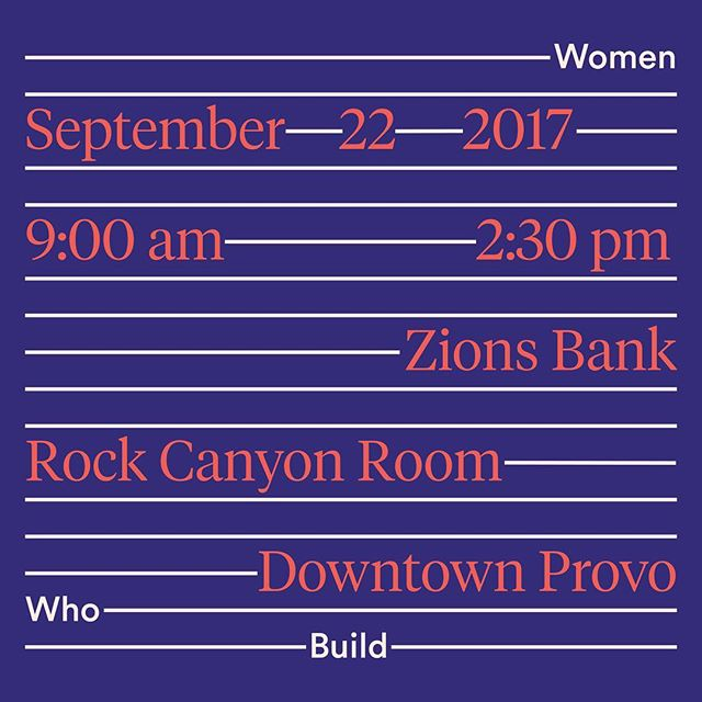 We're changing up our format this year! Our why: to equip you with tools that you can use to start/build and to create a meaningful way for you to get to know other amazing women in our community. Hope hope hope to see you there.