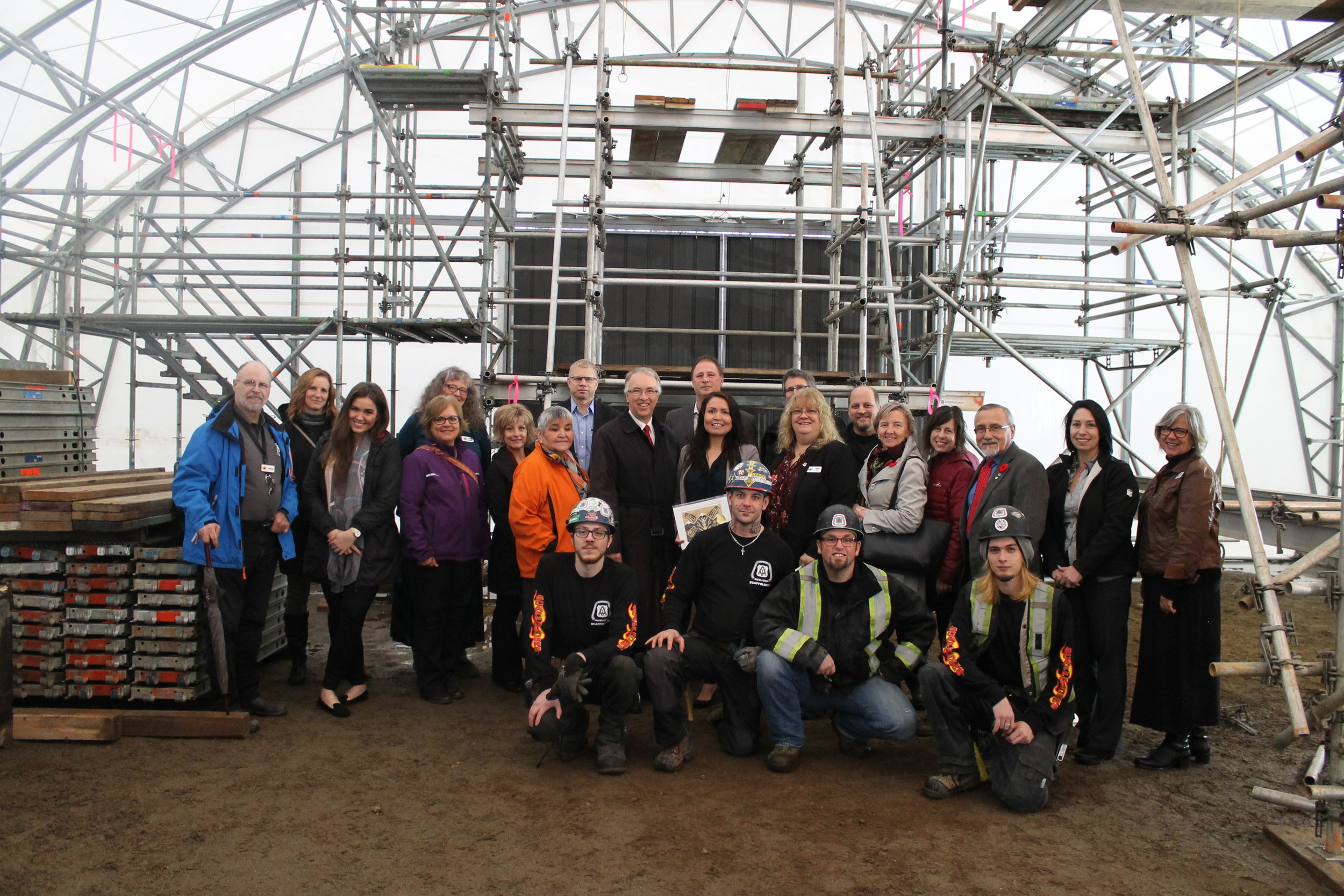 November 8, 2016 - Scaffolding Level 2 Training supported in part from Ministry of Aboriginal Relations & Reconciliation, Haisla Nation, KVI and BC Regional Council of Carpenters.