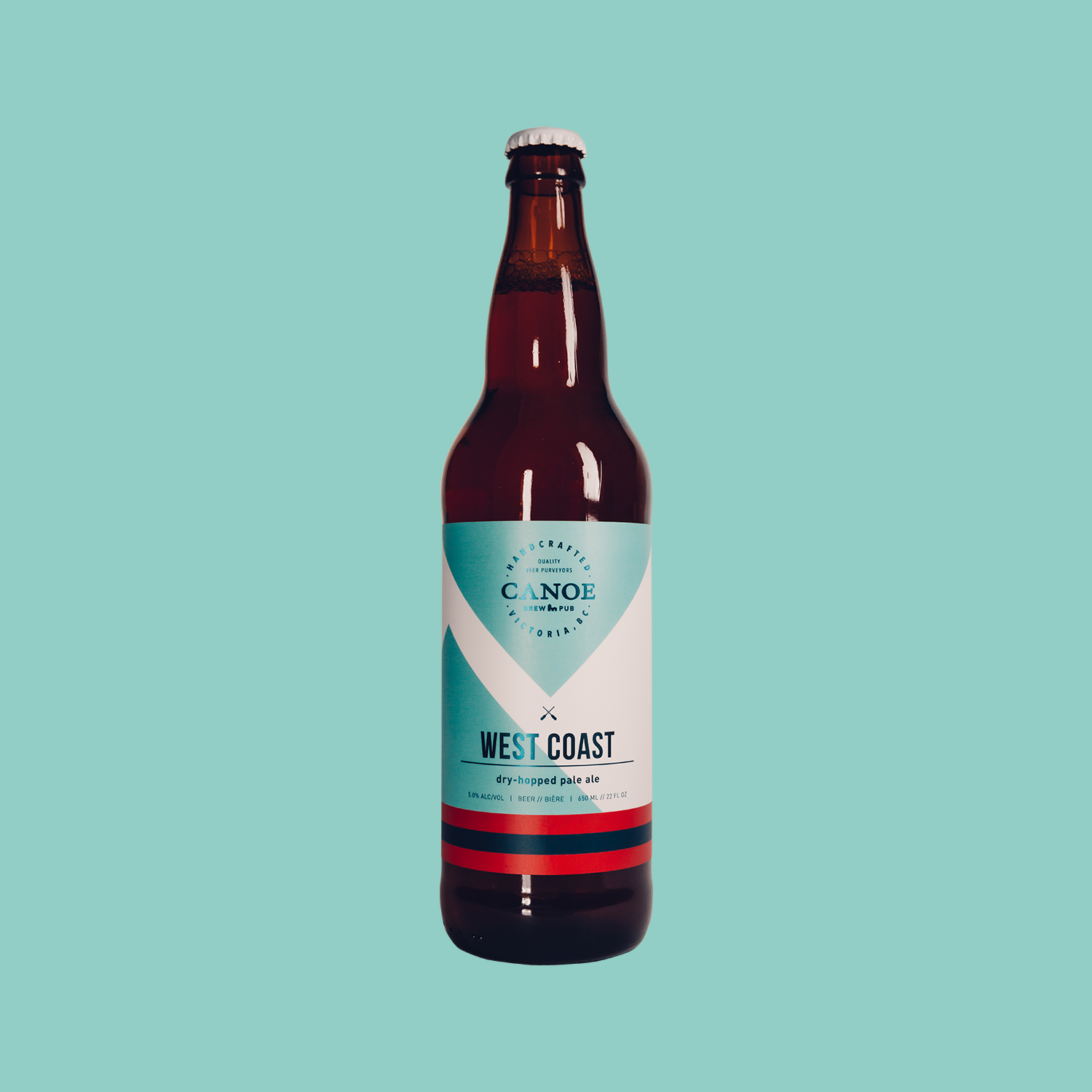 West Coast - A dry-hopped pale ale.An expression of Pacific Northwest hop character, balanced by robust Canadian pale malt. Full flavoured with a mild, refreshing bitterness. Aromatic & mellow.ALC: 5%IBU: 22 (low bitterness/hoppiness)Malt: Low