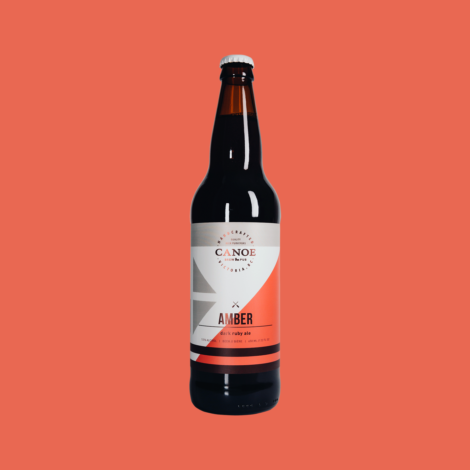 Amber - A dark ruby ale.A malty, mellow beer with a restrained hop backbone. Sessionable, easy-drinking ale that merges stylistic qualities of the traditional English 'ESB' with new-world American Ale flavours. Dark & malty.ALC: 5.5%IBU: 18 (low bitterness/hoppiness)Malt: High