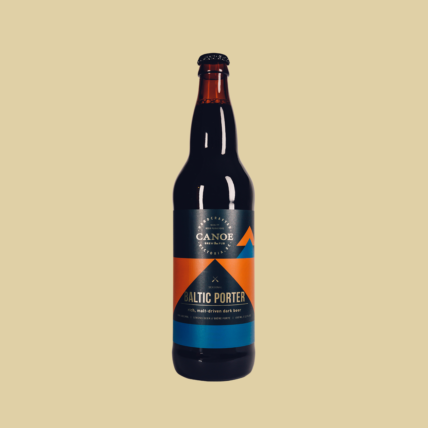 Baltic Porter - A rich, malt-driven dark beer.Similar to an Imperial Stout, the Baltic Porter offers richness and warmth, but favours smoothness and complexity – think cocoa, dried fruits and molasses – over any roasted or burnt malt character.ALC: 8%IBU: 18 (low bitterness/hoppiness)Malt: High