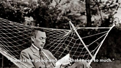 Rachmaninoff in his summer villa