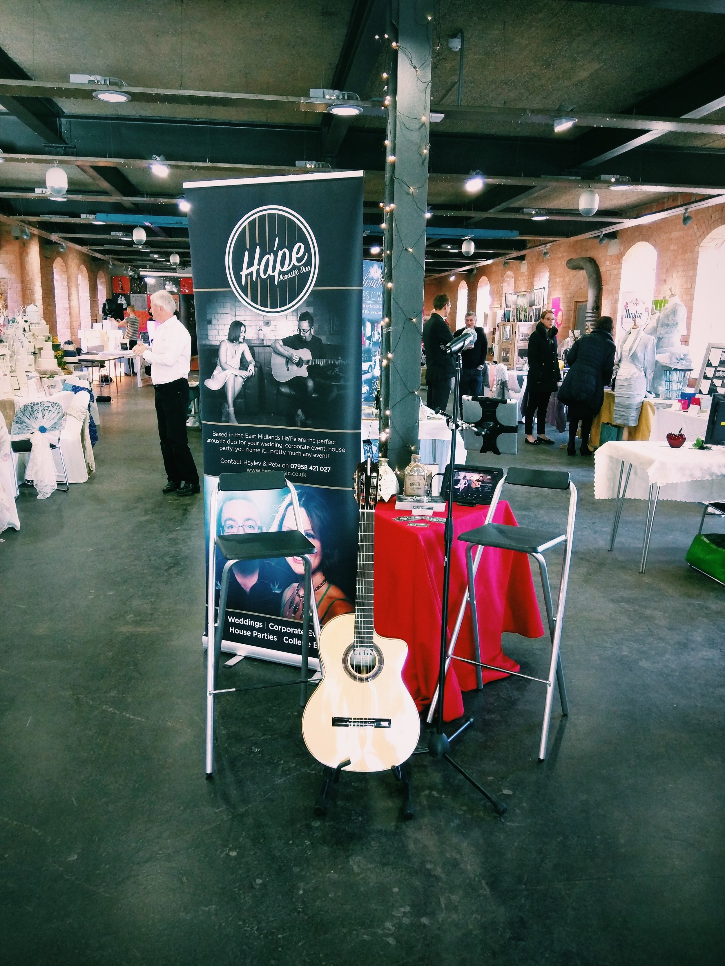 Acoustic wedding music, wedding fayre Nottingham