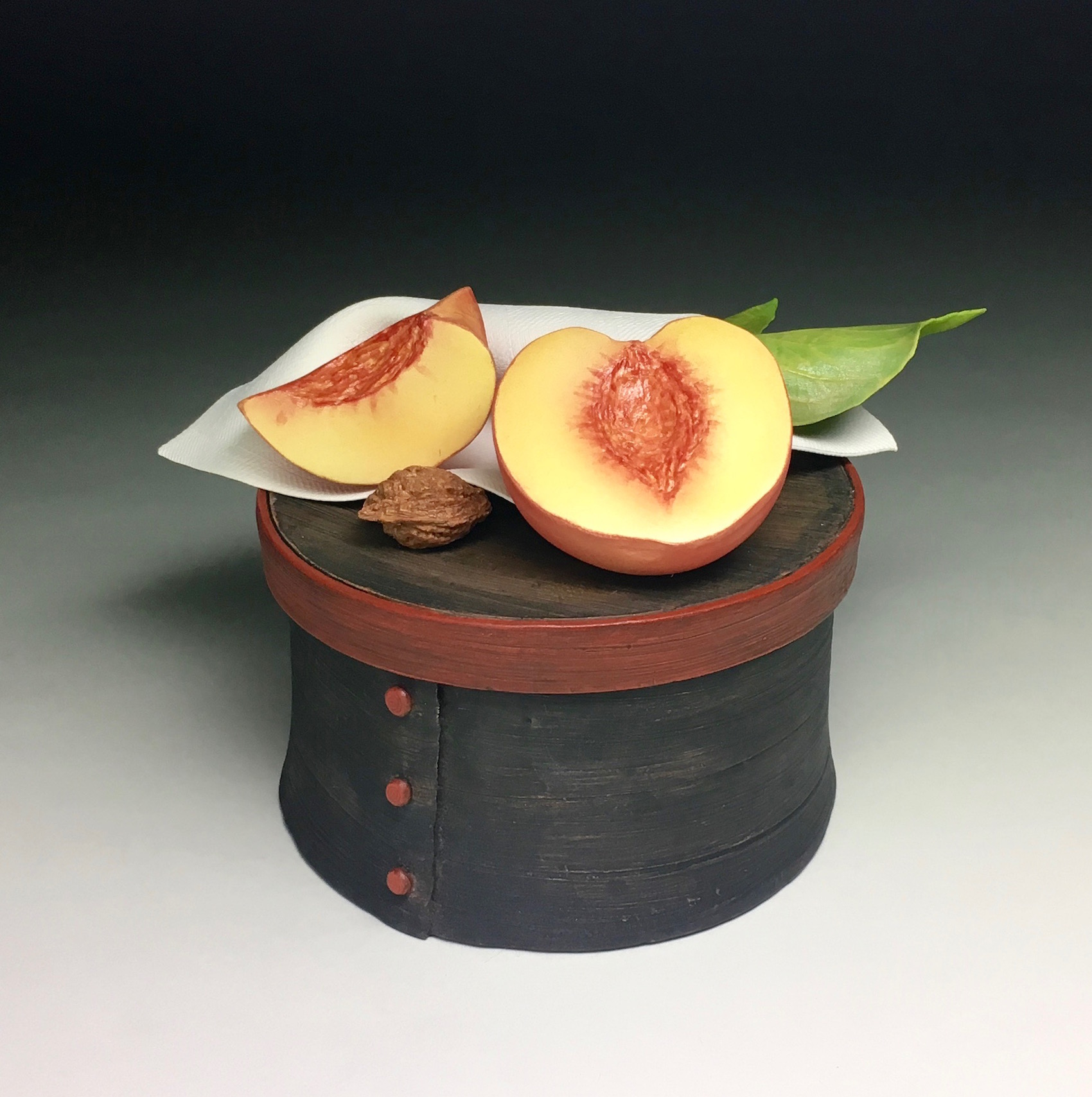 PEACHES ON BLACK BOX