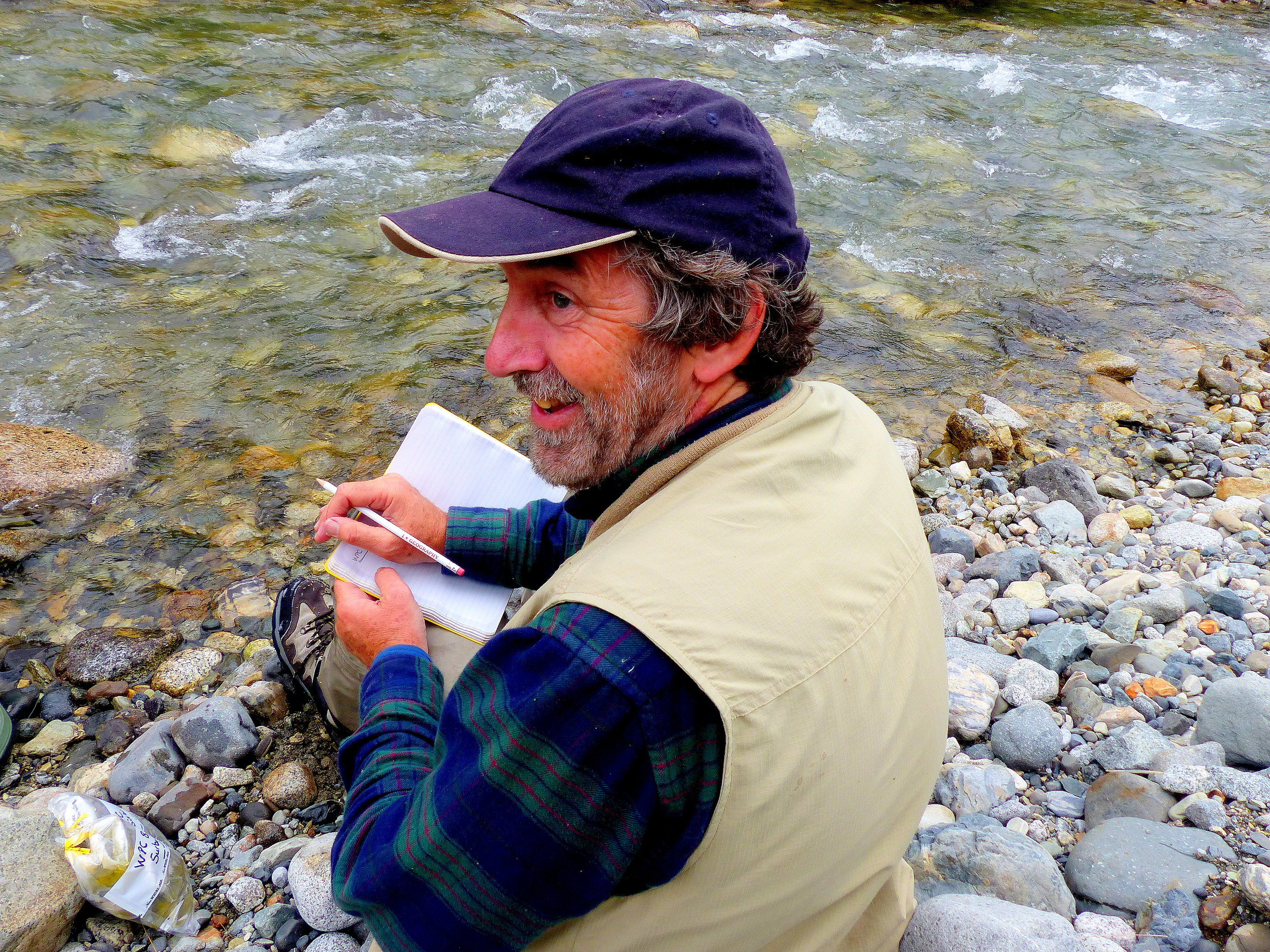 Sandy Milner has studied the development of life in Glacier Bay streams, and he still beams with the pleasure of making new discoveries.