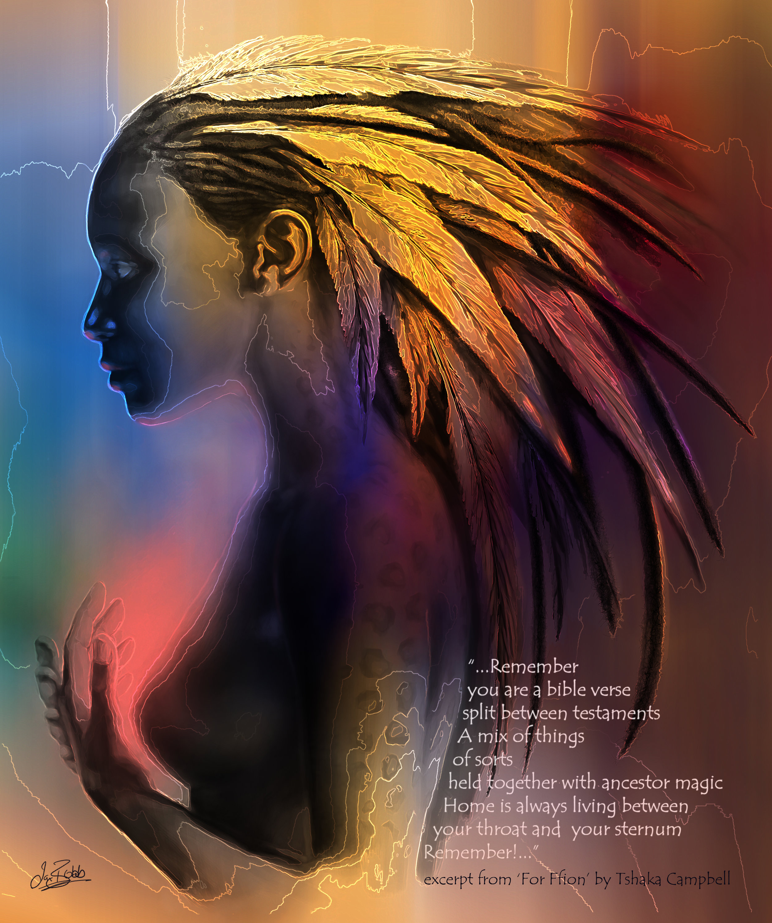 Artist: Ian Bobb  Poet: Tshaka Campbell