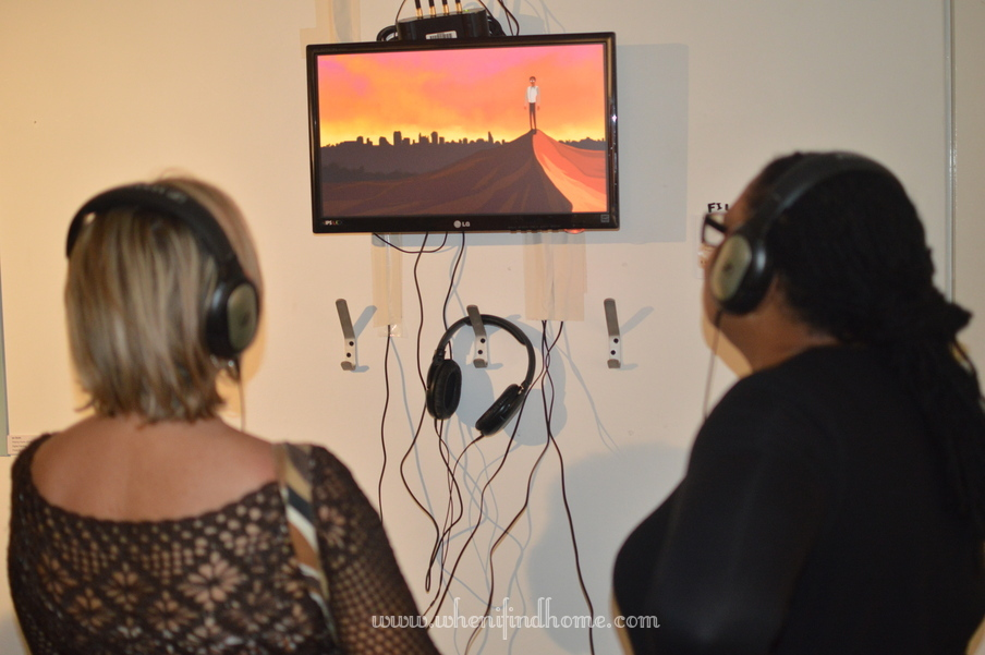 watching animation at exhibition opening.jpg