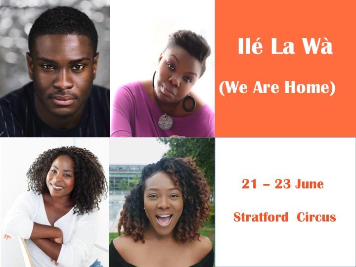 (L to R)Winston Sarpong plays Ronu, Tolu Agbelusi plays Sasha, Mamito Kukwikila plays Tapiwa & Damilola 'DK' Fashola plays Ellie.