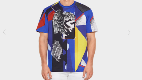 Luxury T-shirts show the rising influence of streetwear in the industry. Image credit: Versace