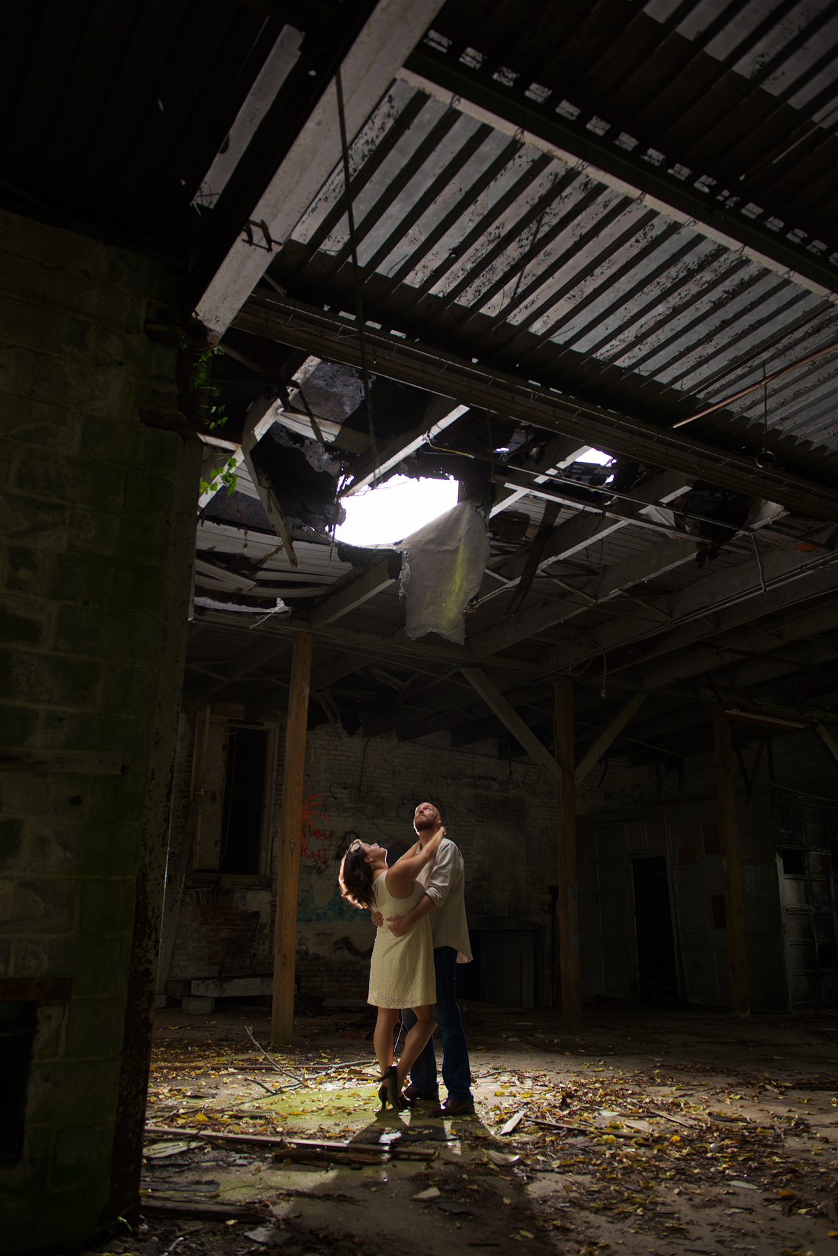 How cool is this!? That hole in the ceiling was perfect for some dramatic light. I loved it.