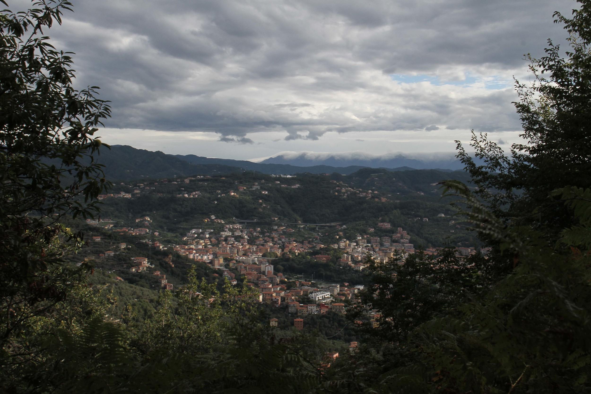 overlook Italian alps