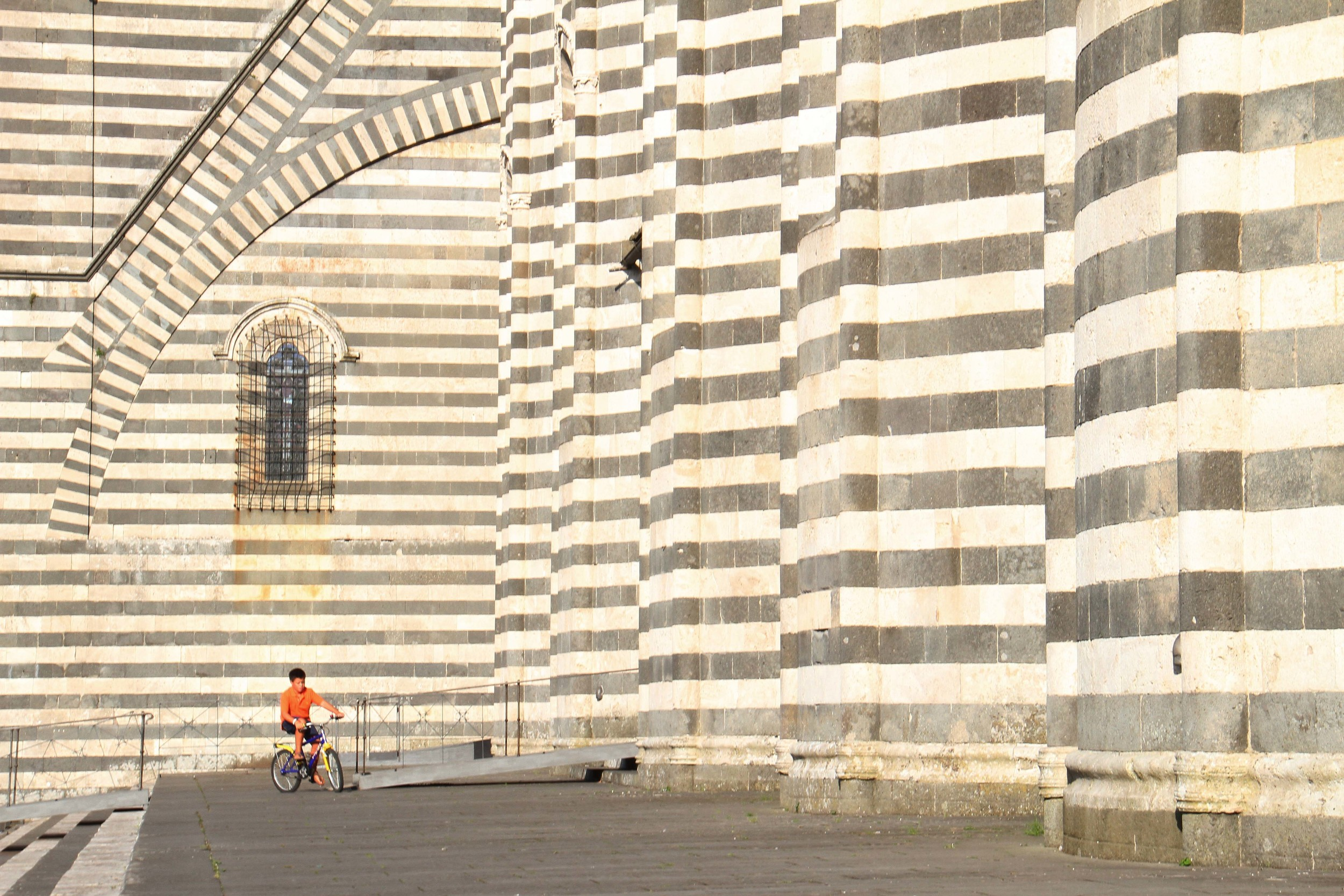 biking the Orvieto cathedral