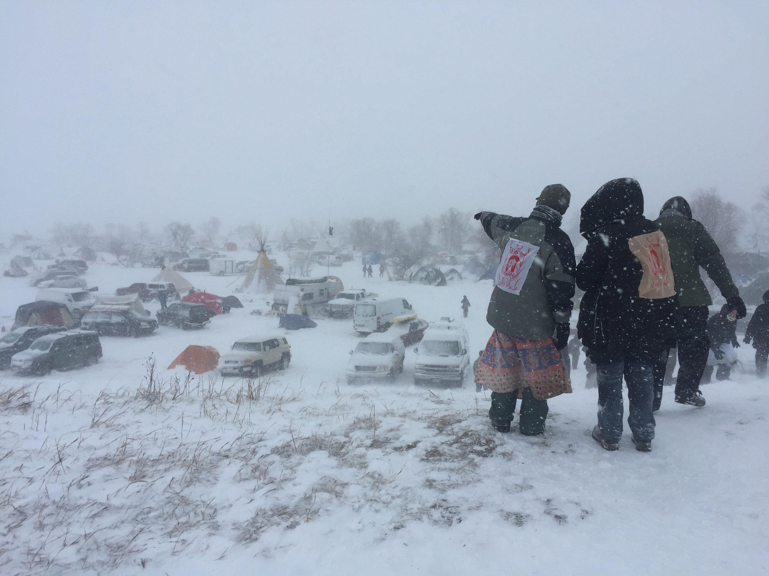 Standing Rock blizzard