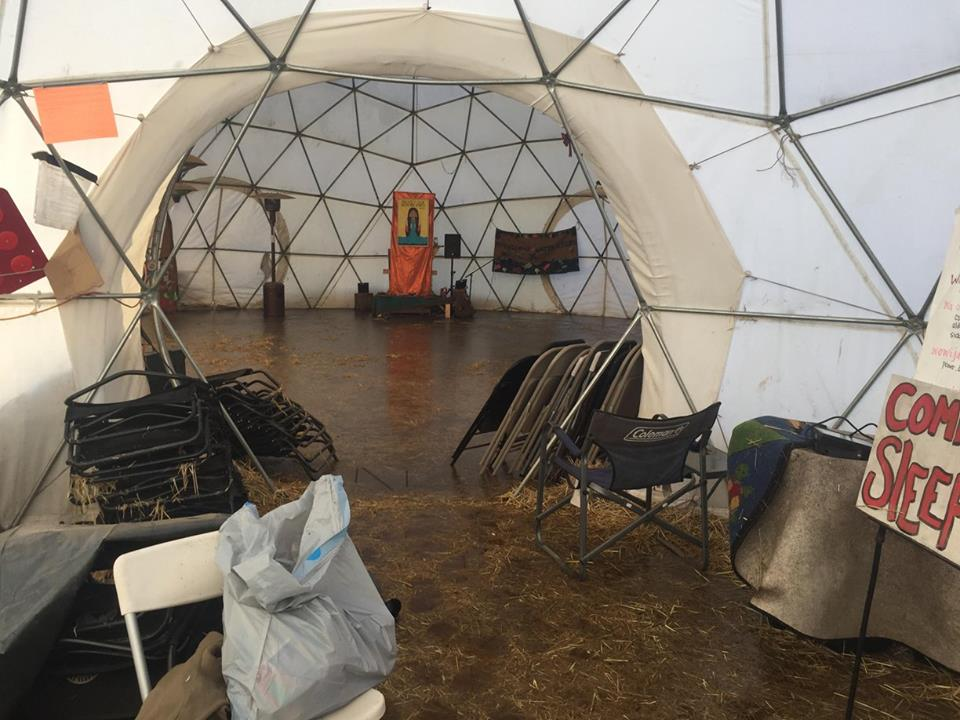 flooded dome standing rock