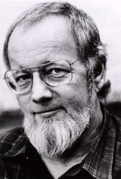 Donald Barthelme looking like he'll talk down to you for not knowing as much as he does, but he thinks he's making a joke and wants you to call his bluff. So, looking like a professor.