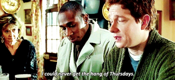 Mos Def as Ford Prefect and Martin Freeman as Arthur Dent