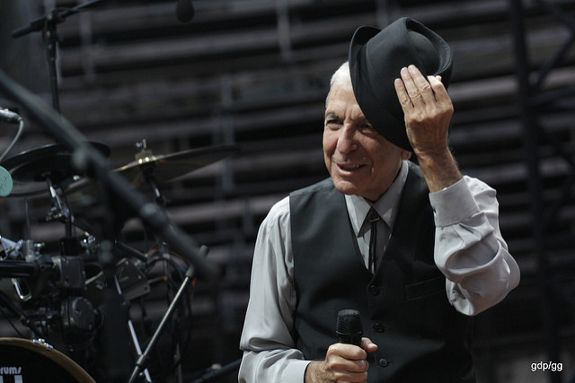 """090820 Leonard Cohen Nimes""  by  gaet  is licensed under  CC by-NC 2.0."
