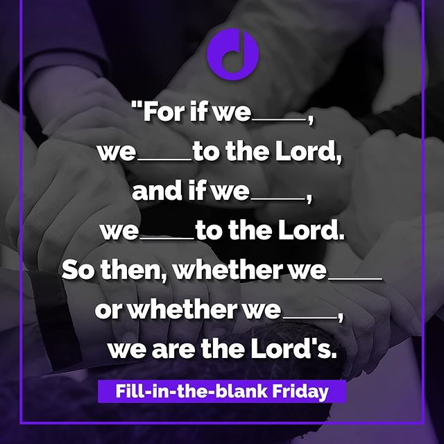 Can you fill in the blanks? Earn a 👍 if you answer correctly in the comments below! 😊  Learn this verse FOREVER through the power of a catchy melody. Click on the link in our profile! • • • • • #scripture #verseoftheday #verse #welivetothelord #christian #God #Jesus #Christ #fellowship #worship #rightspirit #romans14 #romans #memorize #instaverse #wearethelords #safe #heislord #biblesongs #verseoftheweek #joy #bibleverse #singscripture #scripturesong