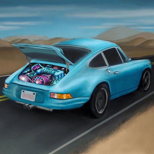 Galaxy Engine Porsche 911  #porsche911 #engineer #mechanicalengineering #engineeringart #galaxycar #carsofinstagram #porscheclassic #bluecar #porschegram #galaxyart #galaxypainting #artistsoninstagram #mechanicalengineer