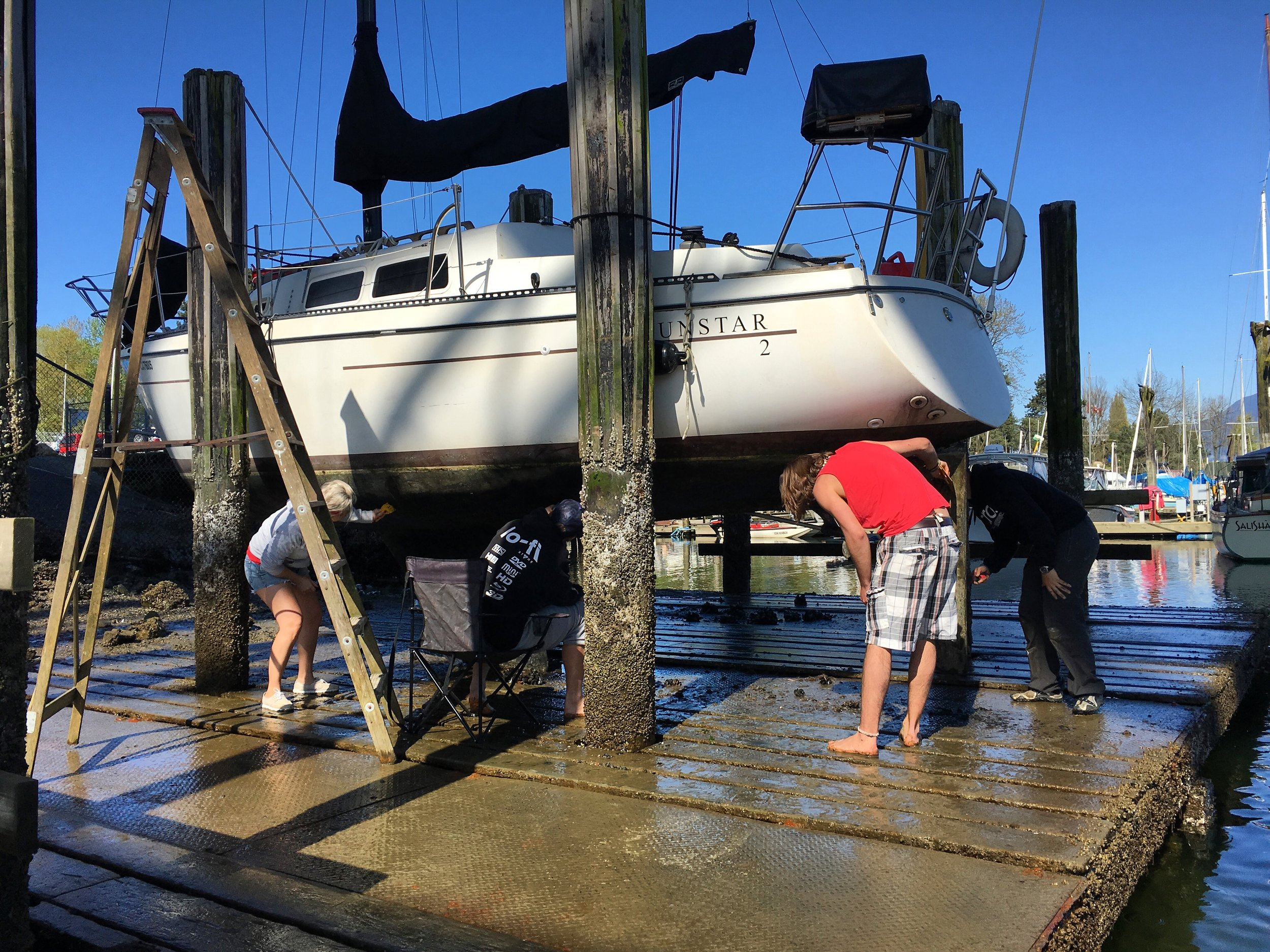 How to haul-out your boat for almost FREE - Learn how to use a TIdal Grid