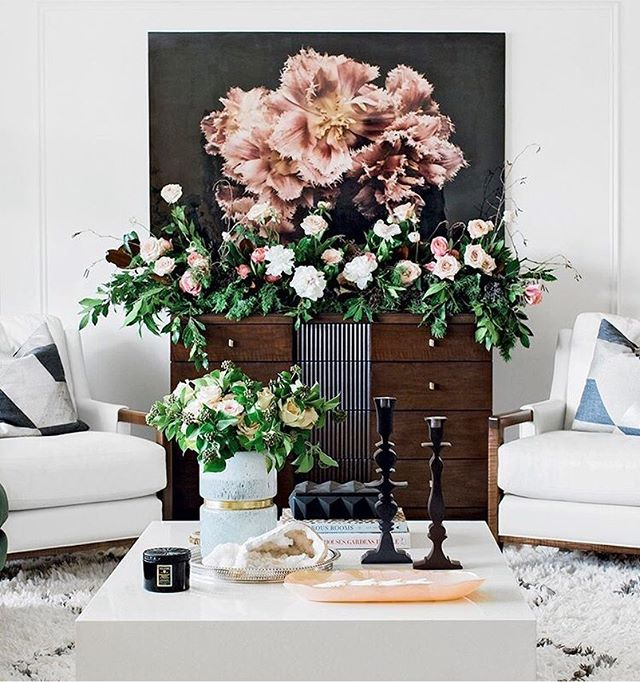 "The beautiful festive home of the lovely @thecuratedhouse. Featuring our statement Ashley Woodson Bailey ""Fringe"" photograph in 40"" x 60"". #CitizenAtelierArt 📷 @whenhefoundher"